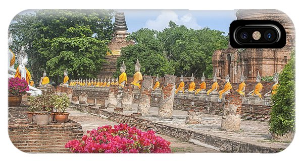Wat Phra Chao Phya-thai Buddha Images And Ruined Chedi Dtha004 IPhone Case
