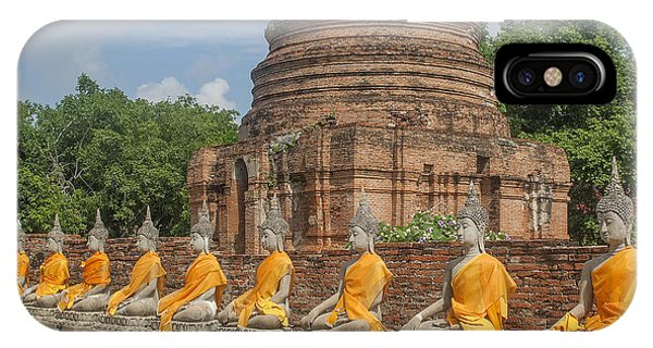 Wat Phra Chao Phya-thai Buddha Images And Ruined Chedi Dtha005 IPhone Case