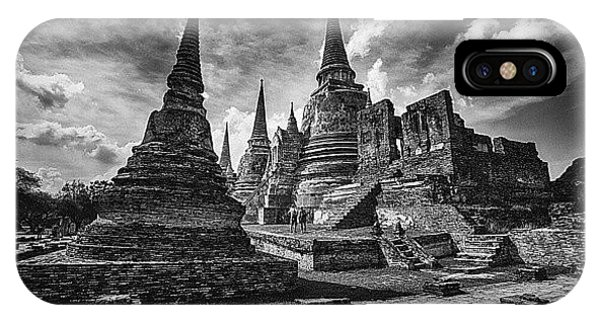 Sunny iPhone Case - Wat Phra Si Sanphet In Ayutthaya by Sunny Merindo