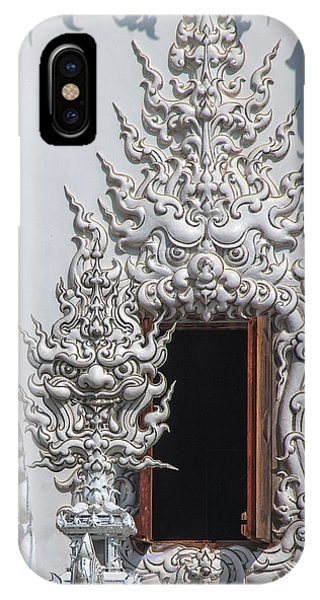 Wat Rong Khun Ubosot Window Dthcr0042 IPhone Case