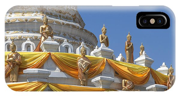 Wat Songtham Phra Chedi Buddha Images Dthb1916 IPhone Case