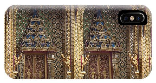 Wat Thung Setthi Ubosot Window Dthb1550 IPhone Case