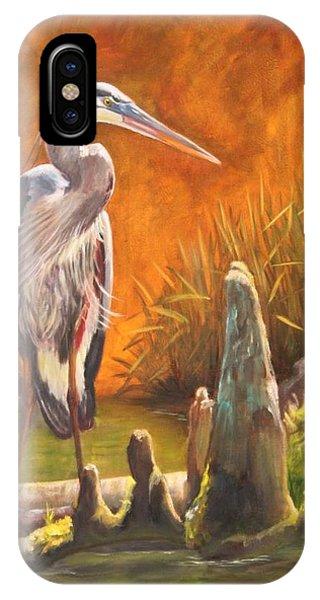 iPhone Case - Watchful Heron by Karen Langley