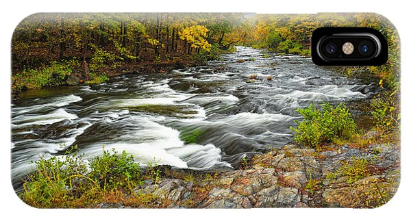 Watching It All Go By  At Beaver's Bend Broken Bow Fall  Foliage Oklahoma IPhone Case