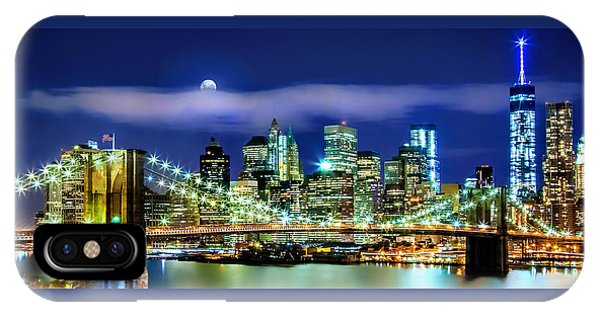 Famous Artist iPhone Case - Watching Over New York by Az Jackson
