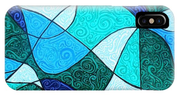 Water iPhone Case - Water Abstract by Genevieve Esson