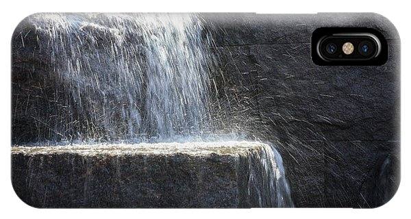 Water Cascades At The Fdr Memorial In Washington Dc Phone Case by William Kuta