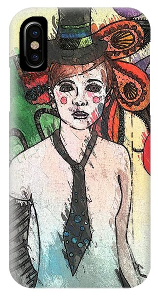 Water Clown Phone Case by Amy Sorrell