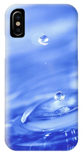 Water Drops In Blue IPhone Case