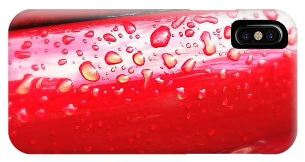 Decorative iPhone Case - Water Drops On Red Car Paint by Matthias Hauser