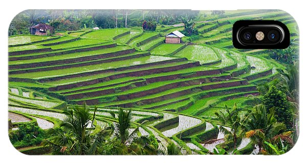 iPhone Case - Water-filled Rice Terraces, Bali by Keren Su