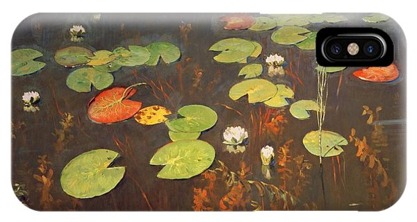 1895 iPhone Case - Water Lilies by Isaak Ilyich Levitan