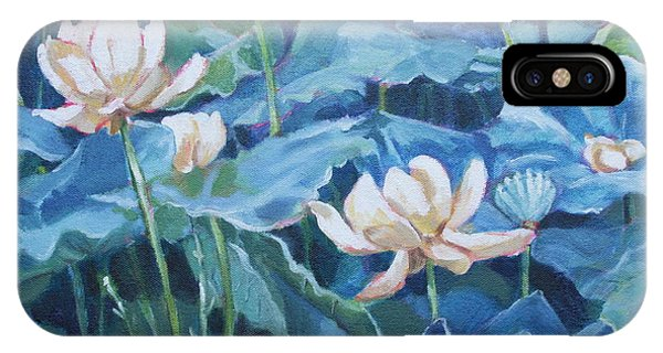 Water Lilies Two IPhone Case