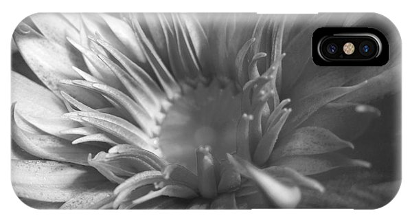 Water Lily B N W IPhone Case