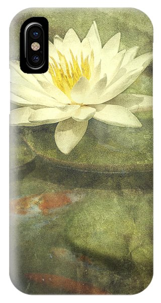 Koi iPhone Case - Water Lily by Scott Norris