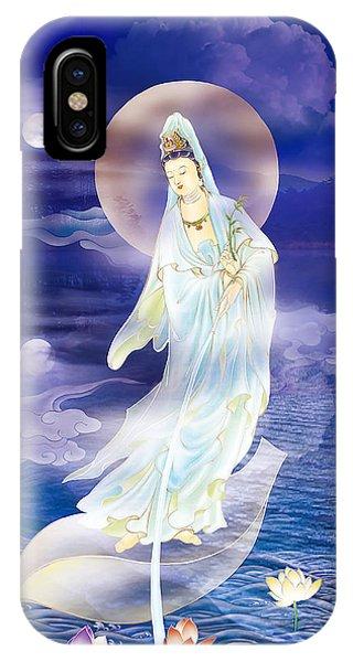 Water Moon Avalokitesvara  IPhone Case
