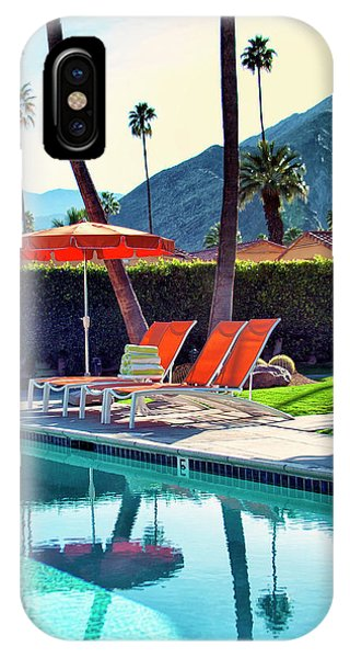 Spring Mountains iPhone Case - Water Waiting Palm Springs by William Dey