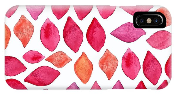 Ornamental iPhone Case - Watercolor Abstract Seamless Pattern by Ajgul