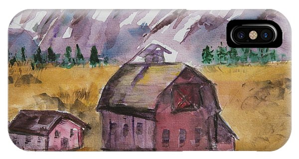 Barn In Montana IPhone Case