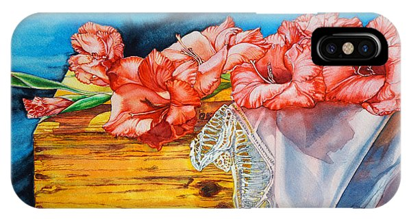 Watercolor Exercise Gladiolas IPhone Case