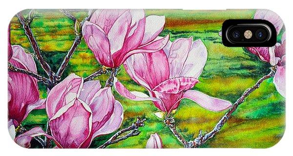Watercolor Exercise Magnolias IPhone Case