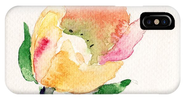 Watercolor Illustration With Beautiful Flower  IPhone Case
