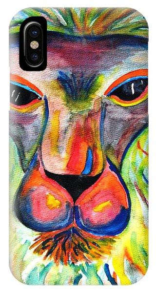 Watercolor Lion IPhone Case