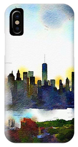 Watercolor Manhattan IPhone Case