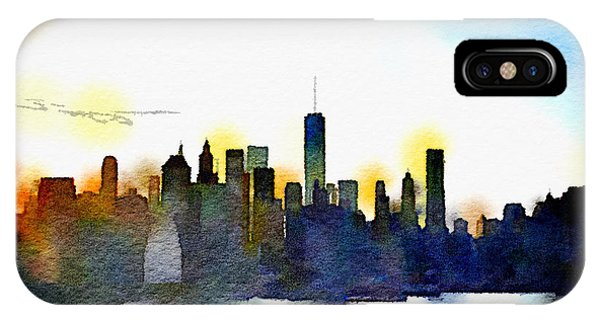 New York City iPhone Case - Watercolor Manhattan by Natasha Marco
