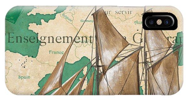 Nautical iPhone Case - Watercolor Map 1 by Debbie DeWitt