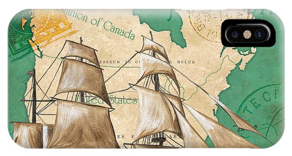 Nautical iPhone Case - Watercolor Map 2 by Debbie DeWitt