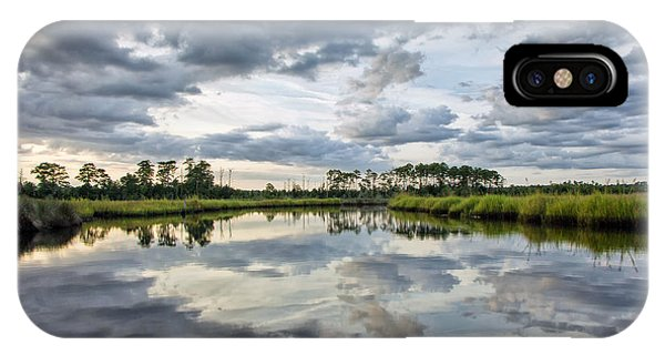 Watercolor Marsh And Sky IPhone Case