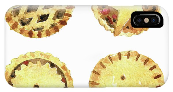 Lid iPhone Case - Watercolor Painting Of Mince Pies by Ikon Ikon Images