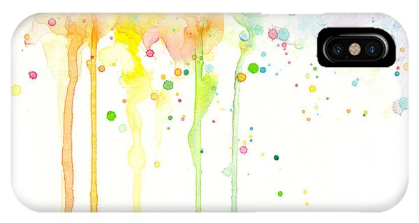 Rainbow iPhone Case - Watercolor Rainbow by Olga Shvartsur