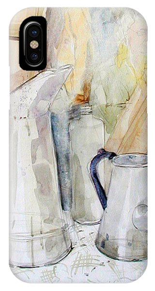 Watercolor Still Life Of White Cans IPhone Case