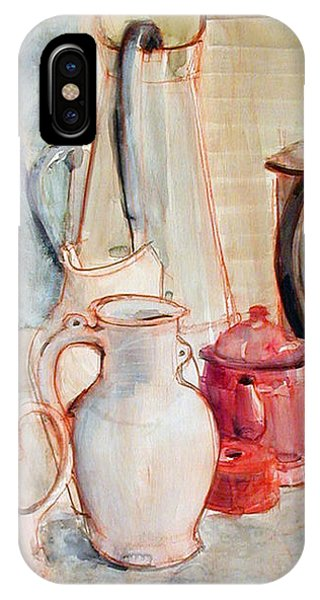 Watercolor Still Life With Red Can IPhone Case