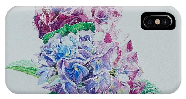 Watercolored Hydrangea IPhone Case
