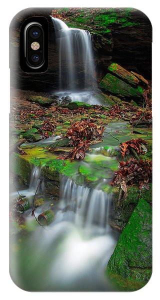 Frankfort Mineral Springs Waterfall  IPhone Case