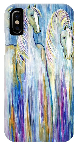 Waterfall Abstract Horses IPhone Case