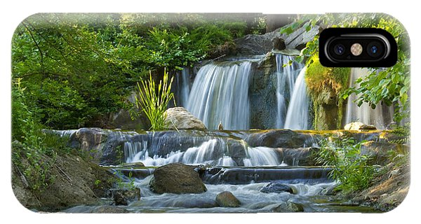 Waterfall At Lake Katherine 2 IPhone Case