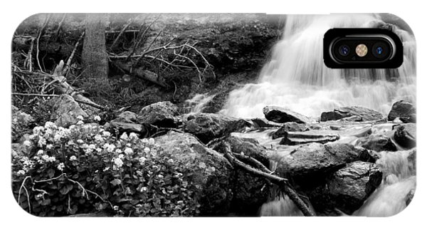 Waterfall Black And White IPhone Case