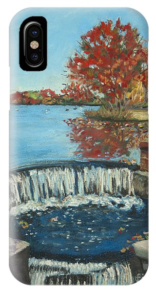 Waterfall Brookwood Hall Phone Case by Susan Herbst