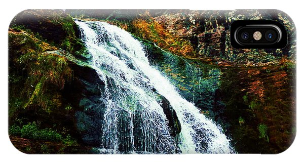 Waterfall By Stiles Cove Path IPhone Case