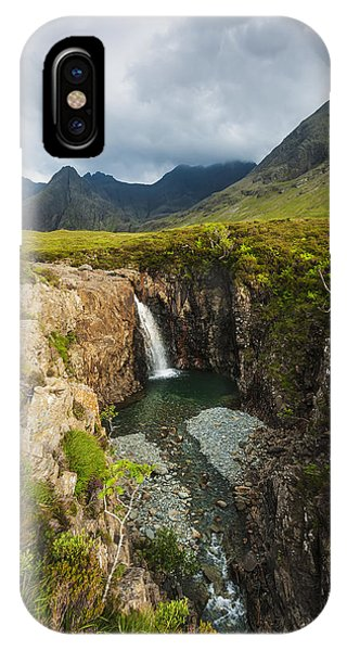 Fairy Glen iPhone Case - Waterfall In Coire Na Creiche The Fairy by Ian Cumming