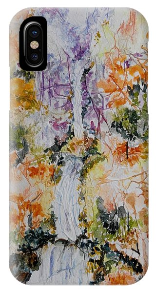 Waterfall In Forest IPhone Case