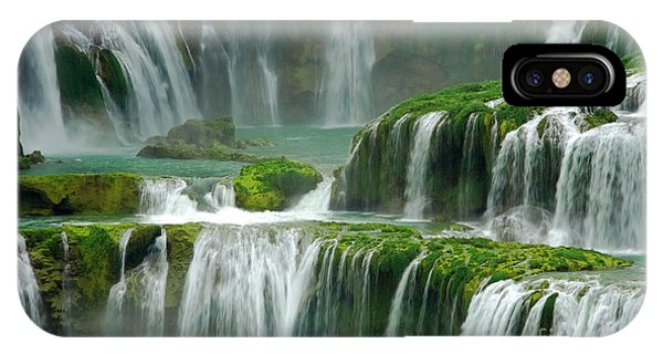 Waterfall In Green IPhone Case