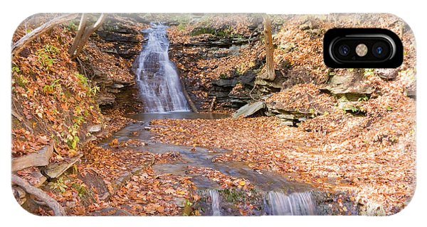 IPhone Case featuring the photograph Waterfall In The Fall by Susan Leonard