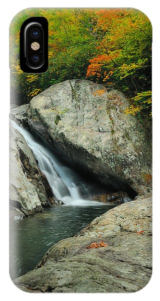 Waterfall In West Fork Of Pigeon River IPhone Case