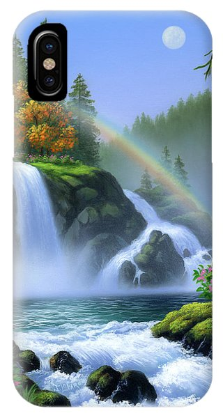 Rainbow iPhone Case - Waterfall by Jerry LoFaro