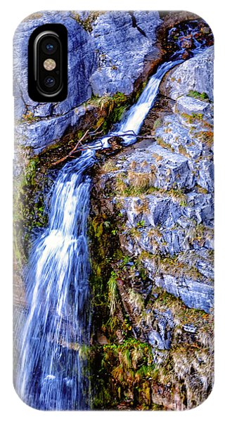 IPhone Case featuring the photograph Waterfall-mt Timpanogos by David Millenheft